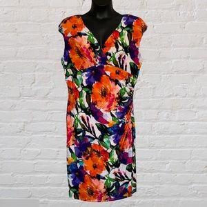 Lauren Ralph Lauren Sheath Sleeveless Floral Dress